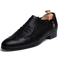 Business Style Men's High Quality Lace-up Leather Pointed-toe Dress Shoes for Party/Office/Wedding