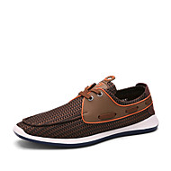 Men's Shoes Outdoor / Office & Career / Casual Suede / Tulle Boat Shoes Blue / Brown / Gray