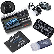16GB+Dual Lens Camcorder X2 Car DVR Dual Camera HD 1080P 2.0 Inch Black Box With Rear 2 Cam Vehicle View Cameras