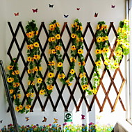 Verkohlung Korrosionsschutz- versenkbare Bambuszaun Wanddekoration Pergola 120cm hoch