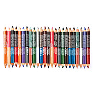 24Pcs/Set Colorful Cosmetic Makeup Eye Eyeshadow Liner Pencil Eyebrow Eyeliner with Sharpener Lid- 48Color