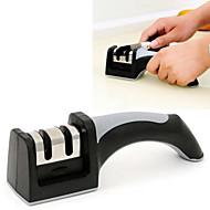 2в1 2 точилки керамическая грубая&вольфрамовой стали тонкой заточки ножей для ножей ножниц инструмент (случайный цвет)