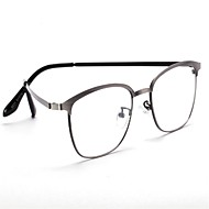 [Free Lenses]  Metal Rectangle Full-Rim Classic / Retro/Vintage / Fashion Prescription Eyeglasses
