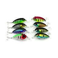 "8pcs יח ' כננת צבעים אקראיים 9.6g g/1/3 אונקיה,70 mm/2-3/4"" אינץ ',פלסטיק קשיח דייג במים מתוקים / דיג בס / דיג כללי"