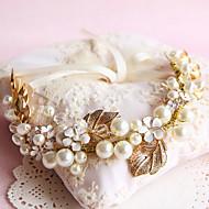 Fashion Wedding Party Women Bride Pearls Leaves Headbands