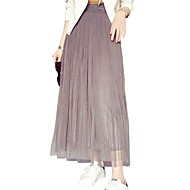Women's Casual  Simple Solid Maxi Skirts