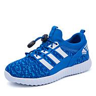 לבנים-נעלי ספורט-דמוי עור-נוחות / מעוגל / סגור-שחור / כחול / ירוק / ורוד-קז'ואל-עקב שטוח