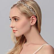 Women's Rhinestone Headpiece-Wedding / Special Occasion / Casual / Office & Career / Outdoor Headbands 1 Piece Clear / Black Irregular