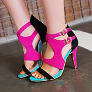 Women's Shoes Heel Heels / Peep Toe Sandals / Heels Outdoor / Dress / Casual Black / Blue / Red