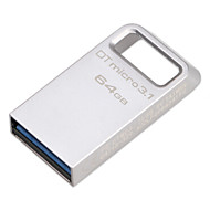 original kingston 64gb digital dtmicro usb 3.1 / 3.0 typ en metall ultrakompakta flash-enhet (dtmc3 / 100m / s)