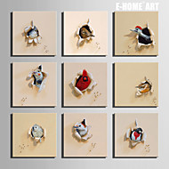 E-HOME® Stretched Canvas Art  A Broken Bird Series Decoration Painting MINI SIZE One Pcs