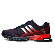 Men's Shoes Runing/Athletic/Casual Tulle Leather Fashion Sneaker Shoes Black red/Black white/Black green