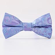 Light Purple Cashew Flower Jacquard Bow Tie