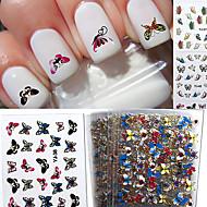 -Finger / Zehe-3D Nails Nagelaufkleber-Andere-24pcsStück -7*7*1cm