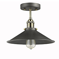 Max 60W Vintage Mini Edison Ceiling Light 1-Light,Dining Room / Study Room/Office / Hallway Metal Flush Mount