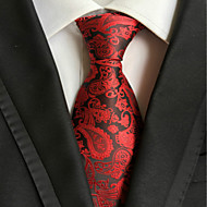 New Red Paisley JACQUARD WOVEN Men's Tie Necktie TIE2003