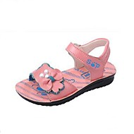 Girls' Shoes Outdoor / Casual Comfort / Open Toe Leather Sandals Pink / Orange / Coral