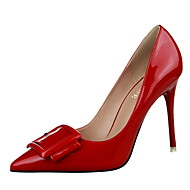 Women's Shoes Stiletto Heel Heels / Pointed Toe / Closed Toe Heels Dress Black / Green / Purple / Red / White / Gray