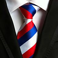 Gravata (Azul / Vermelho / Branco , Poliéster) Listrado