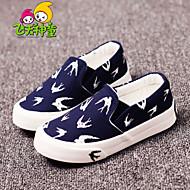 Boy's / Girl's Spring / Summer / Fall Comfort / Round Toe Canvas Outdoor / Casual / Athletic Flat Heel Animal Print / GoreBlack / Blue /
