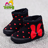 Girl's Boots Spring / Fall / Winter Comfort / Round Toe Fur Outdoor / Casual / Athletic Flat Heel Bowknot / Polka Dot / OthersBlue /
