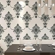 PALUTON Floral Wallpaper Contemporary Wall Covering , Non-woven Paper Luxury European Environmental