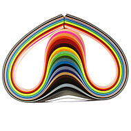 120pcs 5mmx53cm quilling papier (24 kleur x5 stuks / kleur) diy ambachtelijke kunst decoratie
