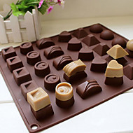 Square Soft Silicone Heart Round Chocolate Mold Ice Cube Tray Jelly Candy Mould