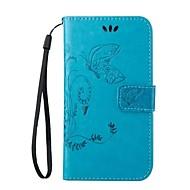 Para Samsung Galaxy Capinhas Porta-Cartão / Carteira / Com Suporte / Flip Capinha Corpo Inteiro Capinha Flor Couro PU SamsungJ5 (2016) /