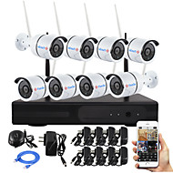 YanSe® 8CH Plug and Play Wireless NVR Kit P2P 960P HD Outdoor/Indoor IR Night Vision Security IP Camera WIFI CCTV System