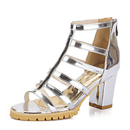 Women's Shoes Chunky Heel Gladiator/Open Toe Sandals Dress Black/White/Silver/Gray