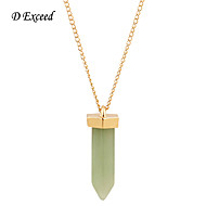 D Exceed Natural Stone Long Necklace For Women Gold Statement Necklaces Pendants For Woman Gifts