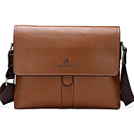 Men PU Messenger Shoulder Bag / Satchel - Brown / Black / Khaki