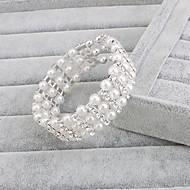 Bracciali Per donna Filo Argento / Perle Perle