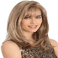 популярный стиль европейская дама коричневого цвета длинные вьющиеся синтетический парик
