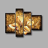 "listo para colgar estirada aceite pintado a mano pintura 48 ""x40"" pared de lona de arte moderno flores de color beige marrón"