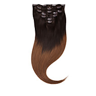 """neitsi® 20 """"7pcs set 100% di clip reale remy nelle estensioni dei capelli umani diritto ombre vergini punto culminante dei capelli"""