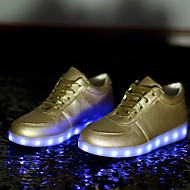 dámské boty vedl USB nabíjecí koženka módní tenisky venkovní / sportovní / volný čas black / white