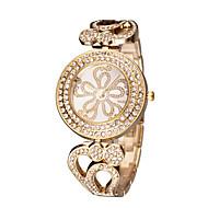 女性用 ファッションウォッチ 日本産クォーツ 透かし加工 模造ダイヤモンド クォーツ 日本産クォーツ ステンレス バンド エレガント腕時計 シルバー ゴールド ローズゴールド