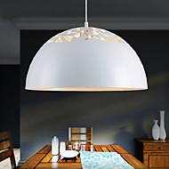 Vintage-Style Minimalist 1 Light Pendant with Carved Shade Study Room/Office, Dining Room, Bedroom Pendant Lights