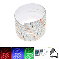 ZDM™ 2.5M 36W 150x5050 RGB SMD LED DC12V Waterproof Strip Light + 24Key Remote Control RGB + 12V 3A power AC100-240V