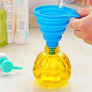 Excellent Practical Kitchen Tool Gel Gadget Silicone Foldable Funnel(Random Color)