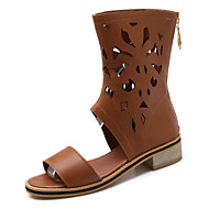 Women's Shoes Chunky Heel Gladiator / Open Toe Sandals Outdoor / Dress / Casual Black / Brown / Beige