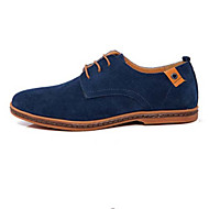 Men's Spring / Summer / Fall Round Toe Leather Casual Flat Heel Lace-up Black / Blue / Brown / Green