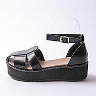 Women's Shoes  Platform Platform / Creepers Sandals Outdoor / Dress / Casual Black / White / Beige
