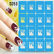 1pcs  New Nail Art Hollow Stickers Different Kinds of Pictures Design Nail Art Beauty S051-S060