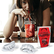 Vampire Ice Mould Silicone Ice Cubes Tray Pudding Jelly Mold (Random Color)