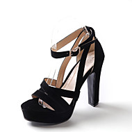 Women's Shoes Chunky Heel Platform/Open Toe Heels Sandals Party & Evening/Dress Black/Blue/Red
