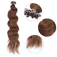 """neitsi 20 """"1 g / s keratiini fuusio u naulata kärki luonnollinen aalto 100% ihmisen hiusten pidennykset 8 #"""