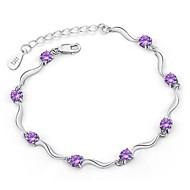 Hochzeit-Ketten- & Glieder-Armbänder(versilbert)